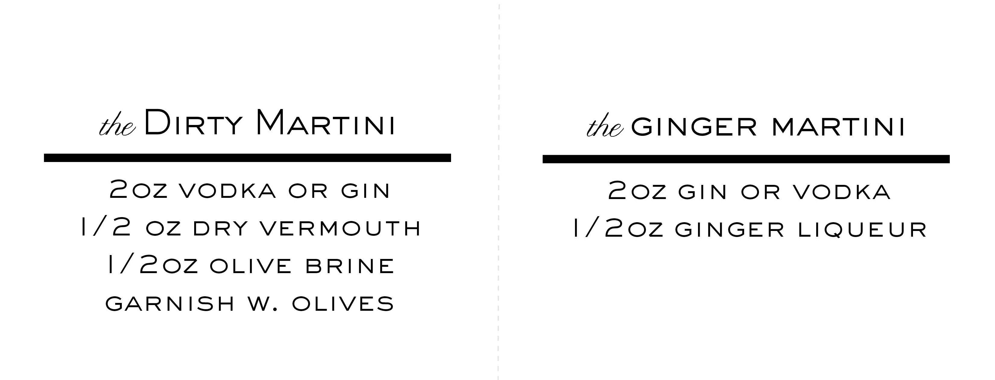 Martini Recipe Tent Cards2