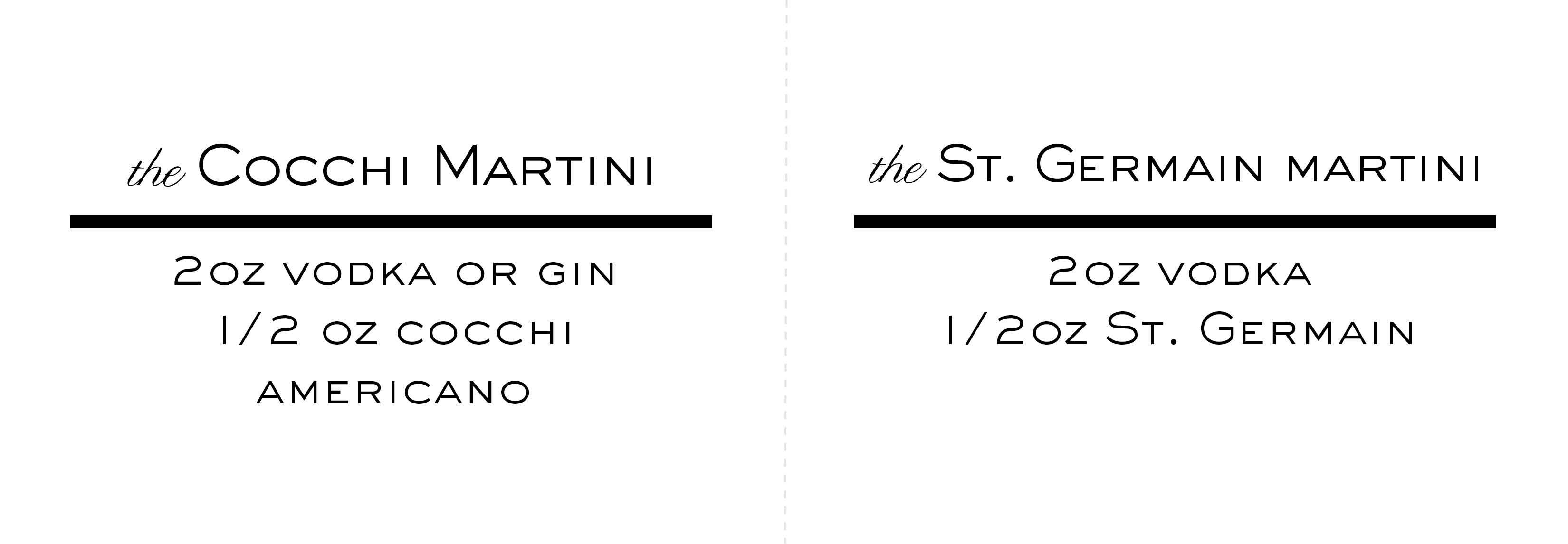 Martini Recipe Tent Cards3