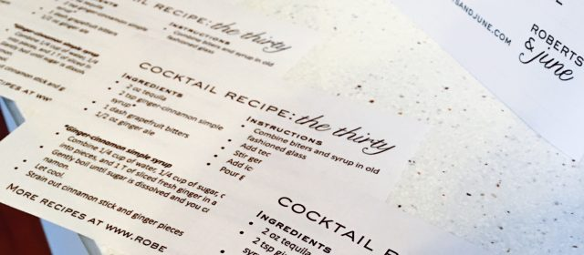 Designing a Drink of the Night + The Thirty Cocktail Recipe